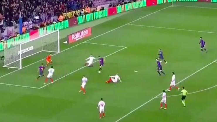 Five first-time passes creates a Barcelona goal from the heavens