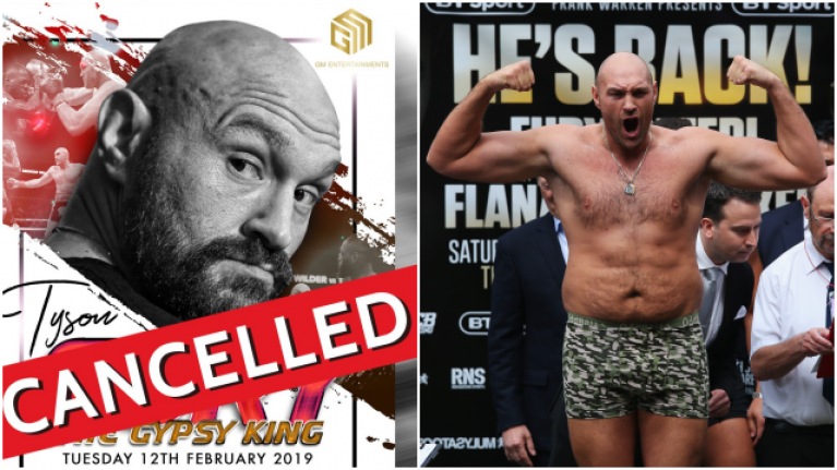 An Evening with Tyson Fury cancelled in Dublin and Cork