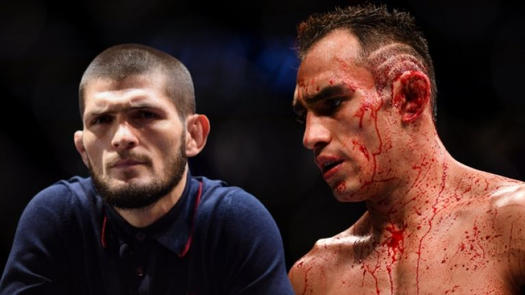 Khabib Nurmagomedov takes aim at Tony Ferguson for turning down interim title fight