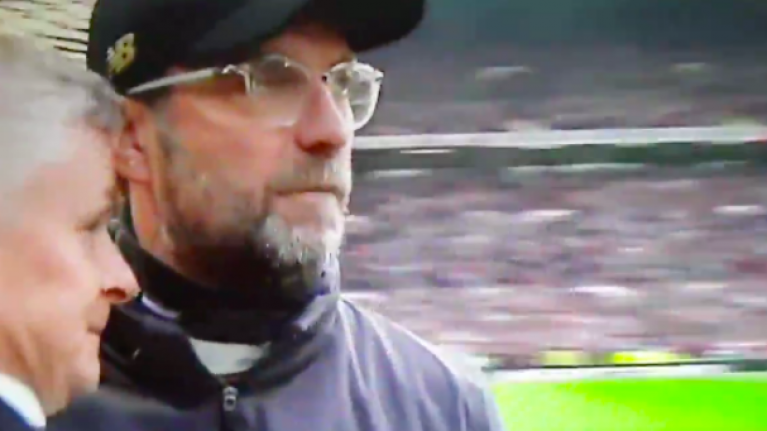 Fans think they've worked out what Jurgen Klopp said to Ole Gunnar Solskjaer after 0-0 draw