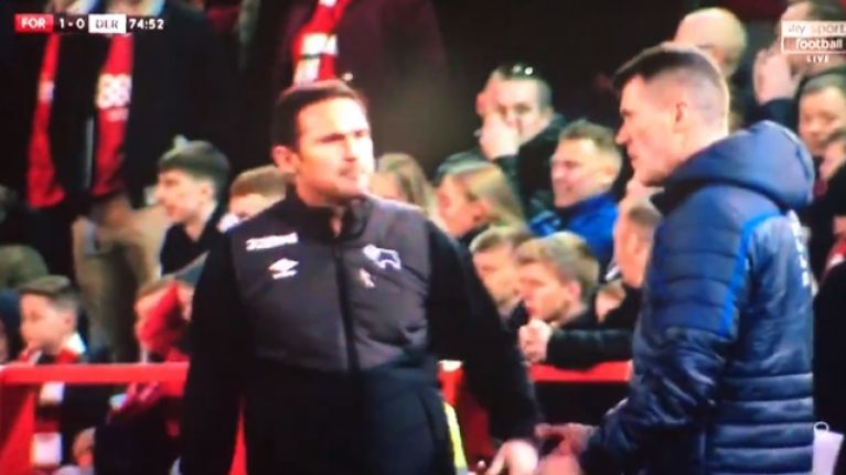 "Frank Lampard appeared to tell Roy Keane to ""get some f***ing balls"""