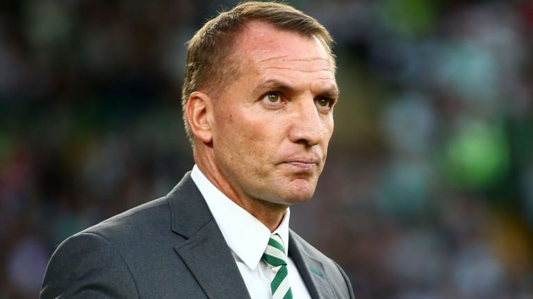 Celtic fans send message to Brendan Rodgers with banner at Hearts match