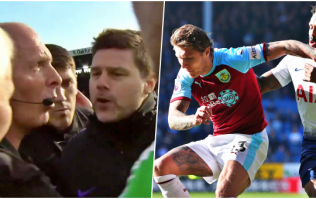 Furious Mauricio Pochettino confronts Mike Dean over Jeff Hendrick decision