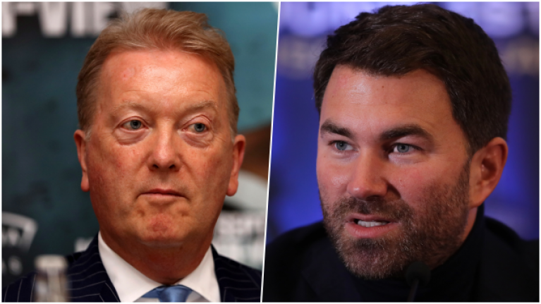 Frank Warren thinks he would beat Eddie Hearn in a fight despite height, weight and age disadvantage