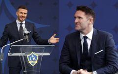 Robbie Keane paid tribute to David Beckham during LA Galaxy statue unveiling