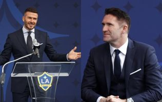 Robbie Keane paid tribute to David Beckham during LA Galaxy statue unveiling