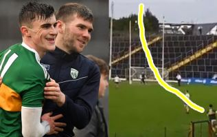 Seanie O'Shea releases inner Maurice Fitzgerald with sideline missile