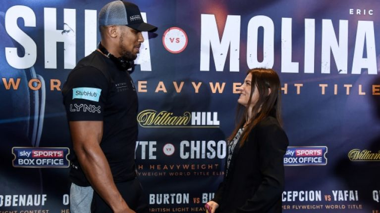Anthony Joshua wants to be more like Katie Taylor