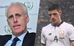Mick McCarthy is adamant that Declan Rice should not have been given the FAI young player of the year award