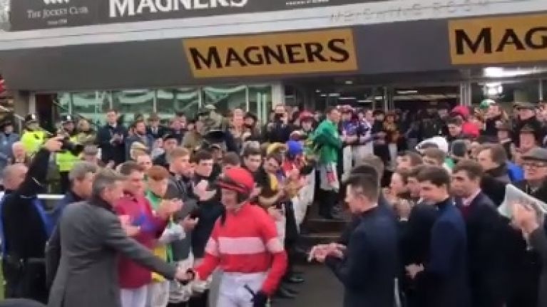 Great scenes as whole weigh room comes together for Noel Fehily's Guard of Honour