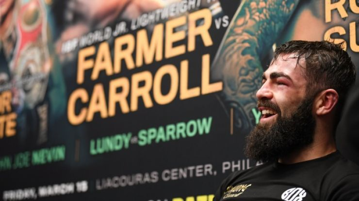 Jono Carroll deserves massive credit for his reaction to first career defeat