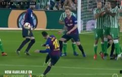 Lionel Messi scores perfect free-kick to give Barcelona lead at Betis