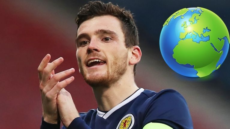 Andy Robertson went to extreme lengths to try and join the Scotland squad in Kazakhstan