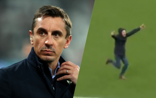 """""""You absolute numpty"""" - Gary Neville hits out at Arsenal pitch invader"""