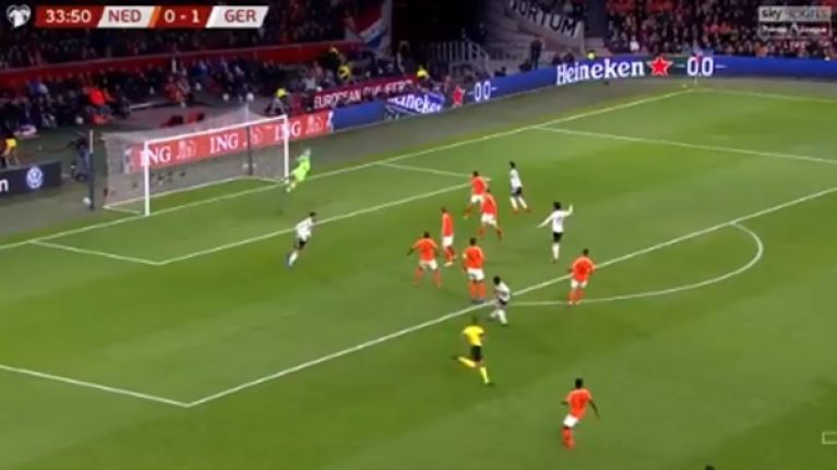 Serge Gnabry takes van Dijk for a ride and rifles shot into top corner