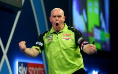 Michael van Gerwen lands stunning 9-darter in European Darts Open semi-final