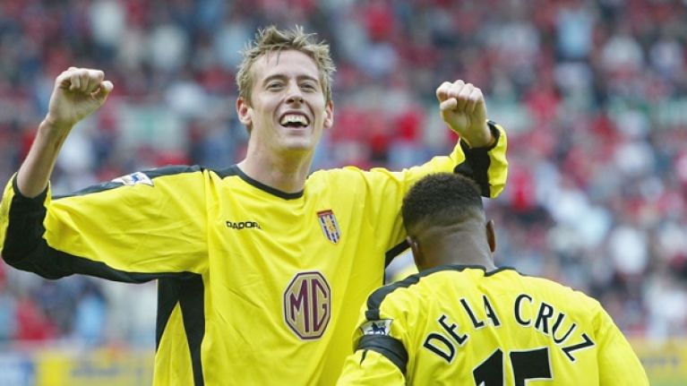 """Doug Ellis once told Peter Crouch that he """"invented the overhead kick"""""""