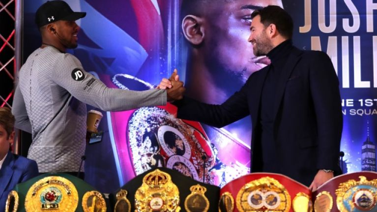 Anthony Joshua's next four fights revealed by promoter Eddie Hearn
