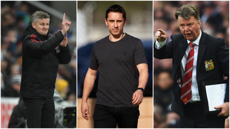 Gary Neville hits back at Louis van Gaal over Solskjaer comment