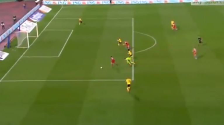 Thibaut Courtois has an absolute howler against Russia