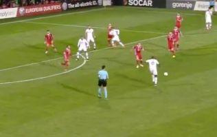 Paul Pogba produces outrageous assist for Antoine Griezmann volley