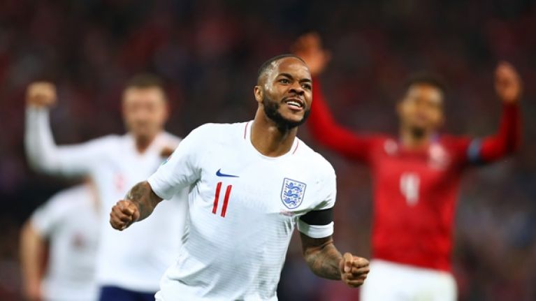 Raheem Sterling dedicates his goal to young fan Damary Dawkins