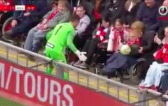 Jerzy Dudek halts Liverpool Legends match to play with a disabled fan