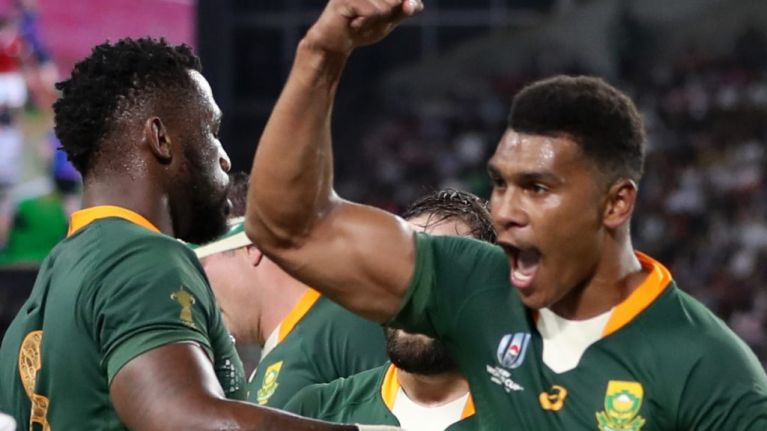 WATCH: South Africa enter quarter-finals after trouncing Canada 66 -7 in RWC 2019