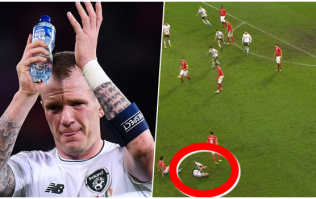 18 seconds that sum up the warrior that is Glenn Whelan in an Ireland jersey