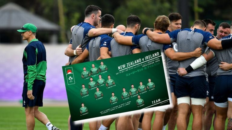 Joe Schmidt sticks with tried and trusted as team to take on All Blacks chosen