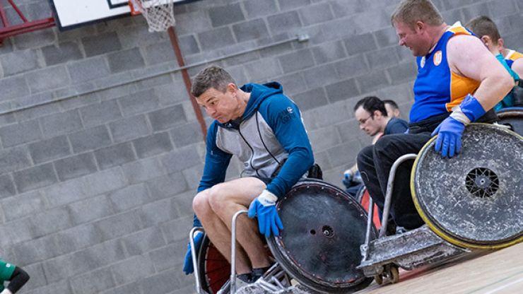 WATCH: Irish legend Brian O'Driscoll has a go at wheelchair rugby