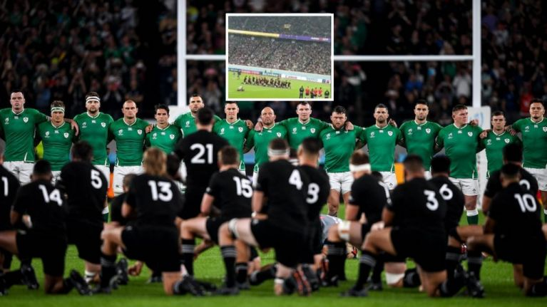 Ireland fans drown out Haka with Fields of Athenry - not that it did much good