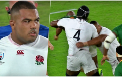 Kyle Sinckler knocked out by Maro Itoje elbow after only two minutes