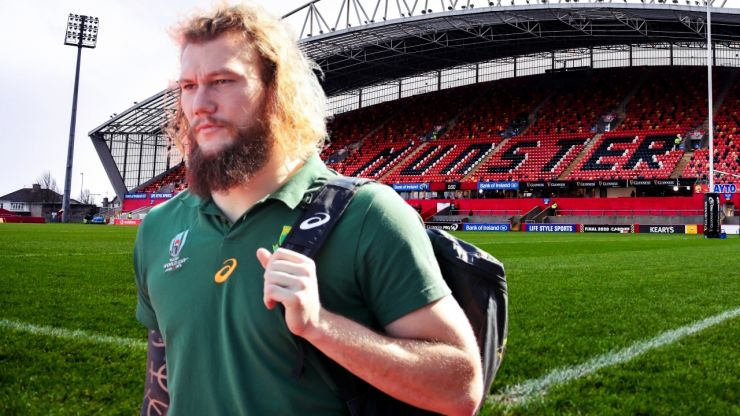"""""""I can't wait to get back out on the field, wearing the red of Munster"""" - RG Snyman"""