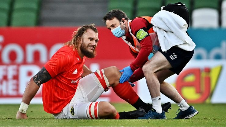 Seven minutes into rugby's return, Munster hit with injury nightmare