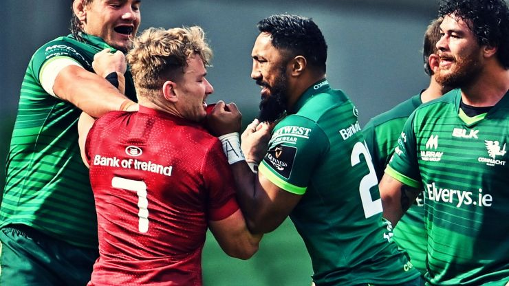 Bundee Aki goes down kicking and screaming as Munster march on