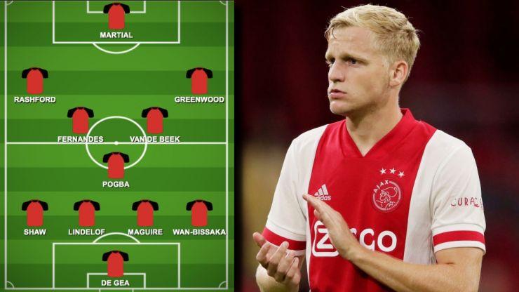 How will Donny van de Beek fit into Manchester United's midfield?