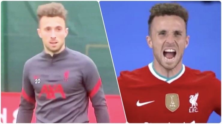 """Pressing monster"" Jota impressing at Liverpool training"