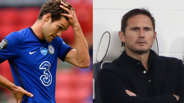 Frank Lampard blasts Marcos Alonso for trying to watch second half on team bus