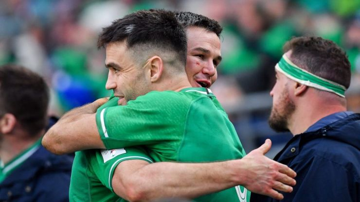 "Johnny Sexton says ""outstanding"" Conor Murray's box-kicks won Ireland the game"