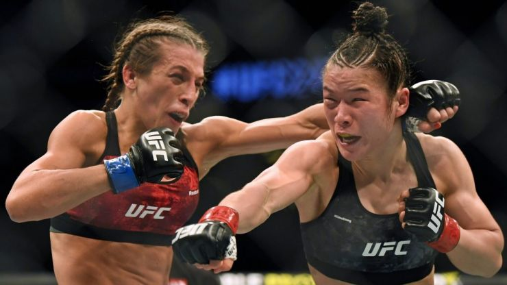 "Zhang Weili and Joanna Jedrzejczyk serve up ""greatest"" women's MMA fight"