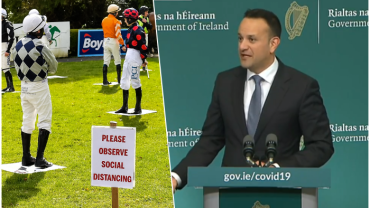 Horse-racing cancelled as government announces new measures