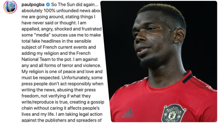 """""""So The Sun did it again"""" - Pogba fires back with powerful Instagram post"""