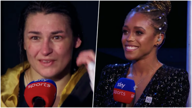 Sky Sports pundit calls out Katie Taylor during live broadcast