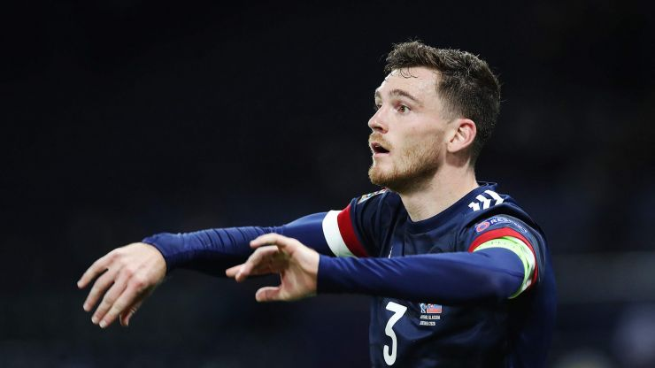 Liverpool dealt injury scare with Andy Robertson a doubt for Scotland game