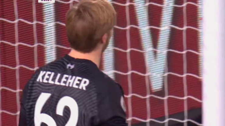 Kelleher changed shirt at half-time of his second Liverpool clean sheet