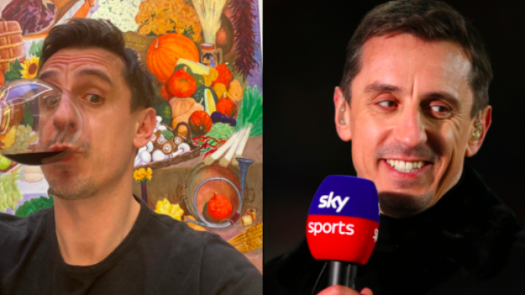 Gary Neville toasts the downfall of Super League after clubs back out