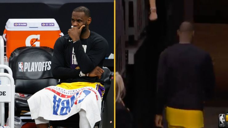 LeBron James taking heat for leaving blowout Lakers loss with five minutes remaining