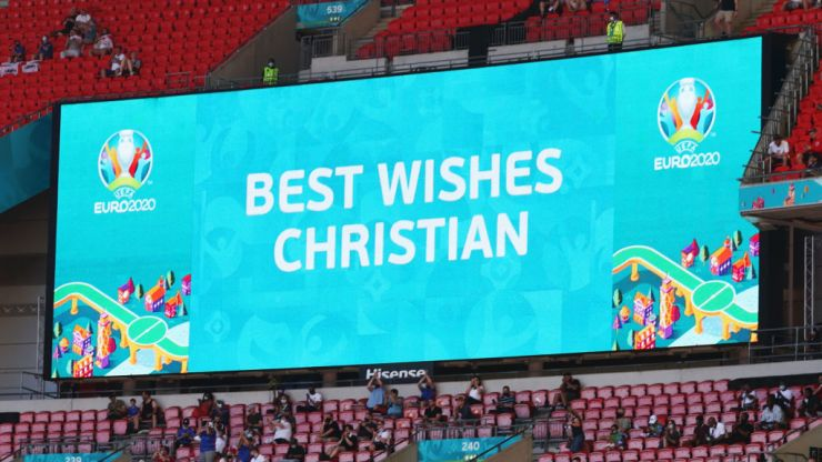 Denmark and Belgium to kick ball out of play in 10th minute as Christian Eriksen tribute
