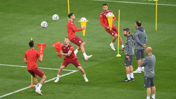 North Macedonia's bizarre training drill with cones has some fans scratching their heads